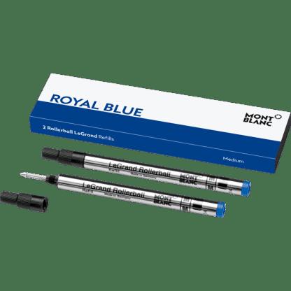 confezione da 2 refill per penna roller Le Grand Montblanc tratto medium colore royal blue