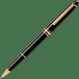 penna roller Montblanc Meisterstück classique in pregiata resina nera finiture oro