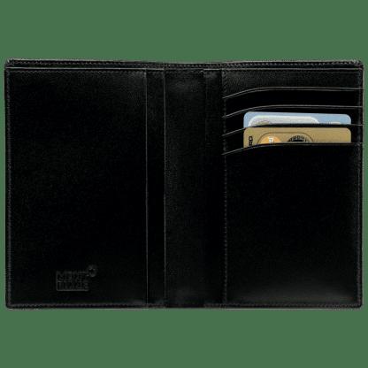 Portafoglio verticale Montblanc Meisterstück in pelle di vitello con4 tasche per carte di credito 2 per documenti e 1 per banconote