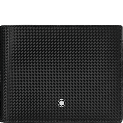 portafoglio Montblanc Extreme 2.0 in pelle nera con stampa motivo fibra di carbonio