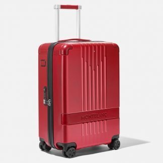 trolley Montblanc my#4810 red con inserti in pelle