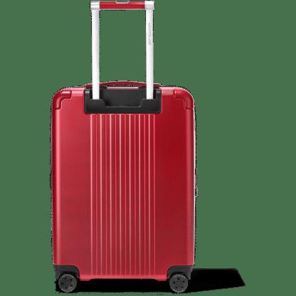 trolley Montblanc my#4810 red particolare del manico con logo montblanc retro
