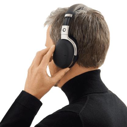 Cuffie Montblanc wireless con google assistant colore nero