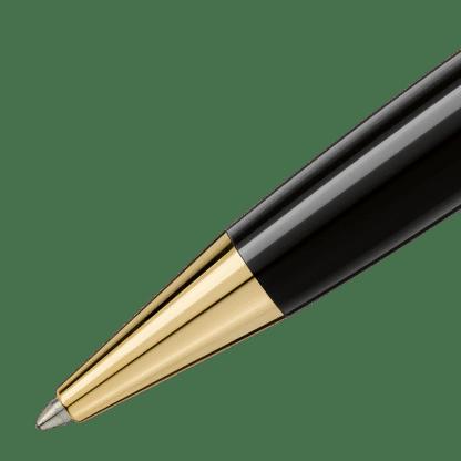 Puntale penna a sfera Montblanc Meisterstück Classique in pregiata resina nera con finiture placcate in oro