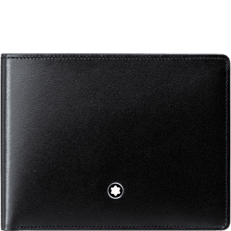 Portafoglio Montblanc Meisterstück in pelle di vitello colore nero