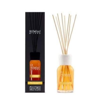 diffusore a bastoncini millefiori fragranza legni e fiori d'arancio da 250 ml con confezione