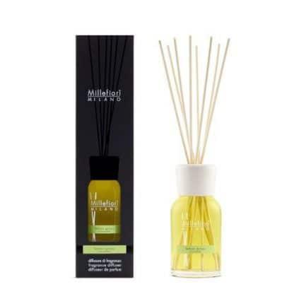 diffusore a bastoncini millefiori fragranza lemon grass da 250 ml con confezione