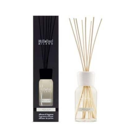 diffusore a bastoncini millefiori fragranza white musk da 250 ml con confezione
