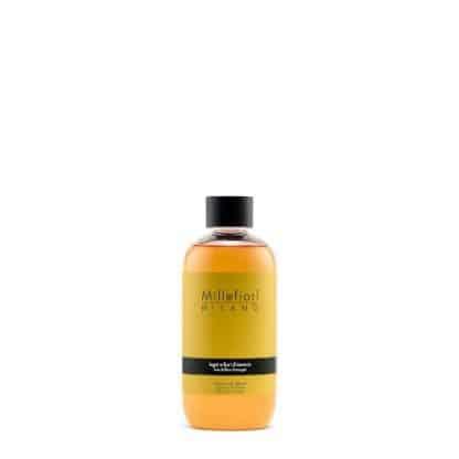 refill diffusore a bastoncino millefiori fragranza legni e fiori d'arancio da 250 ml
