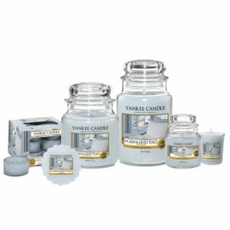 Candele profumate yankee candle fragranza a calm & quiete place disponibile in più formati grande media piccola per auto tea light sampler e tart