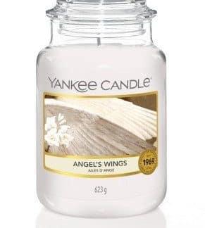 giara grande yankee candle fragranza Angel's Wings