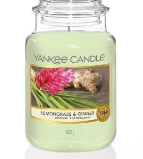 giara grande yankee candle fragranza Lemongrass & Ginger