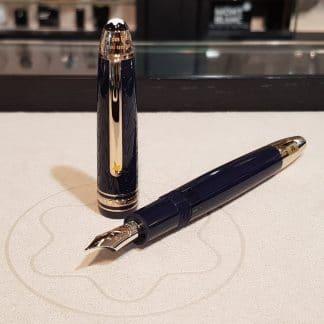 Montblanc stilografica Le Grand Le Petit Princ Special edition con corpo in pregiata resina blu e finiture oro champagne