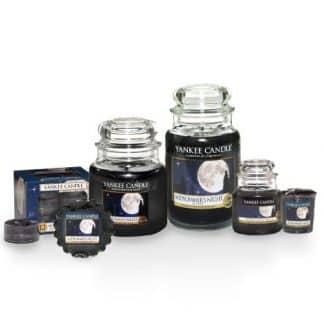 Candele profumate yankee candle fragranza Midsummer's night disponibile in più formati grande media piccola per auto tea light sampler e tart