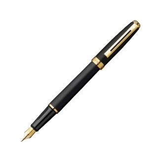 stilografica sheaffer sagaris colore nero satinato opaco e finiture dorate
