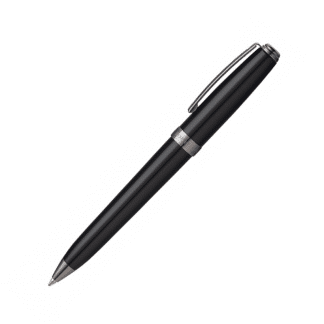 penna a sfera sheaffer sagaris colore nero con finiture color canna di fucile