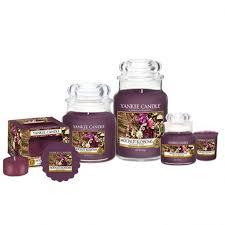 Candele profumate yankee candle fragranza Monlit Blossom disponibile in più formati grande media piccola per auto tea light sampler e tart