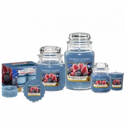 Candele-profumate-yankee-candle-fragranza-Mulberry-&-Fig-Delight-disponibile-in-più-formati-grande-media-piccola-per-auto-tea-light-sampler-e-tart