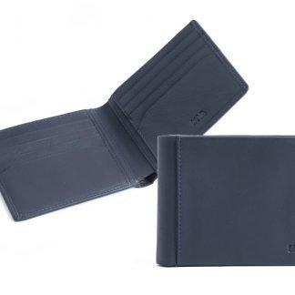 portafoglio piccolo uomo 8 carte di credito nava smooth colore blu