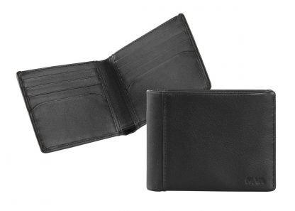 portafoglio piccolo uomo 8 carte di credito nava smooth in pelle colore nero