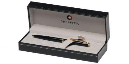 Penna a sfera Sheaffer Sagaris nero lucido con finiture dorate