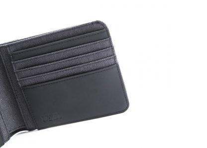 portafoglio nava linea twin con 8 cc e porta banconote colore antracite interno