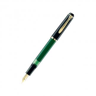stilografica pelikan M251 verde nera con finiture dorate