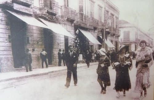 immagi del corso garibaldi del 1921 sede dell'azienda Nicolò da allora ancora li