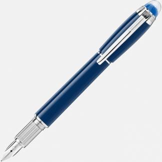 stilografica montblanc starwalker blue planet colore blu finiture platino