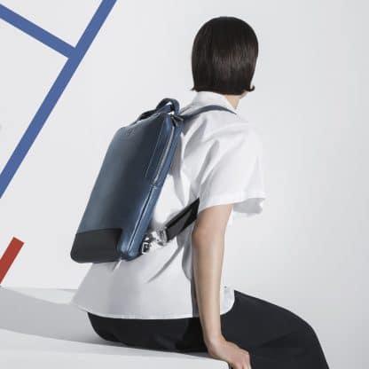 Borsa Moleskine Classic in Pelle per Dispositivi in Verticale blu portabilità con modello