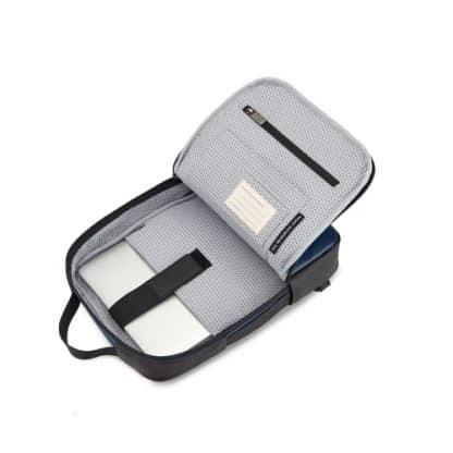 Borsa Moleskine Classic per Dispositivi 13 Pollici Blu Zaffiro vista interno aperto