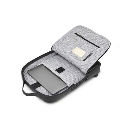 Borsa Moleskine Classic per Dispositivi 15 Pollici Nero vista interno aperto