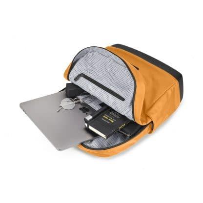Zaino Moleskine zaino Ripstop in nylon colore giallo arancio con accessori