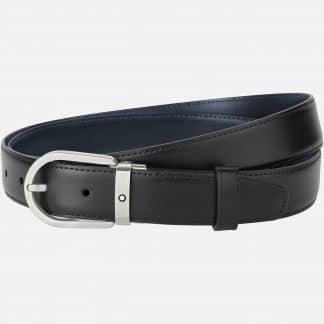 Montblanc Cintura reversibile nero blu