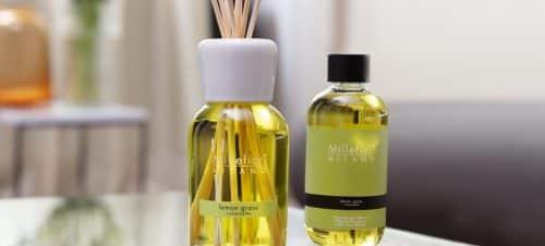 diffusore a bastoncino millefiori fragranza lemos grass e ricarica di fragranza