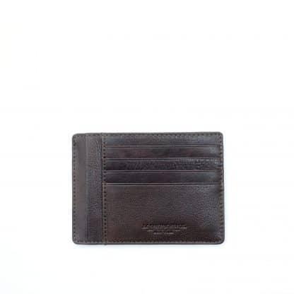 Spalding porta carte di credito Oregon in morbida pelle naturale colore test di moro