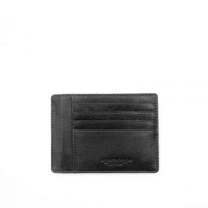 Spalding porta carte di credito Oregon in morbida pelle naturale colore nero