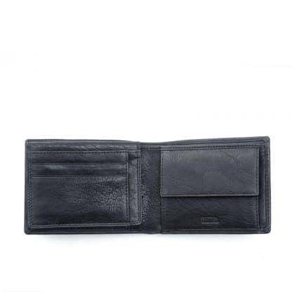Spalding Oregon Portafoglio in morbida pelle naturale colore nero interno