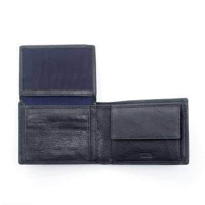 Spalding Oregon Portafoglio in morbida pelle naturale colore nero