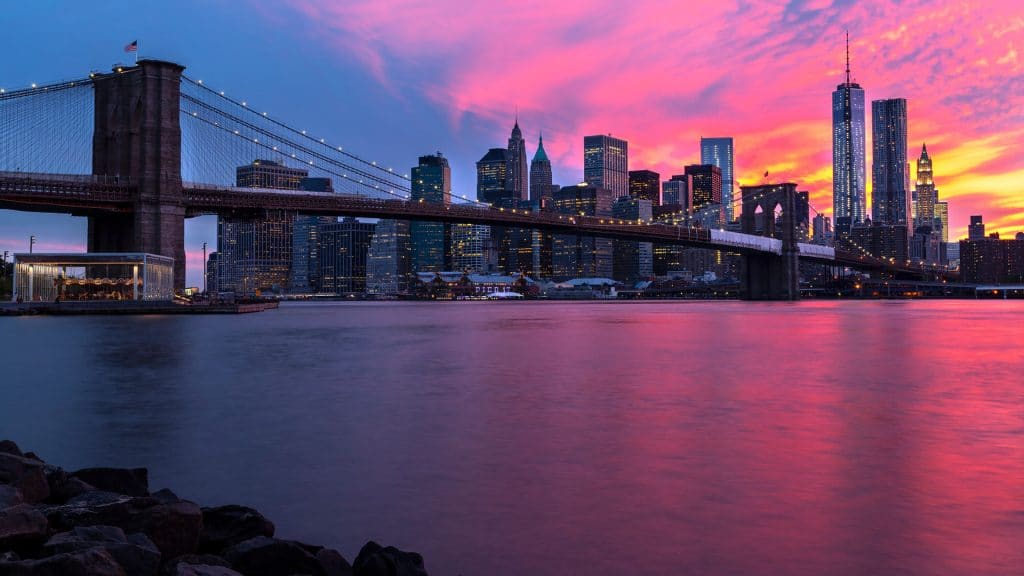 Immagine di copertine A.G. Spalding & Bross raffigurante il ponte di Brooklyn