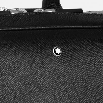 Montblanc Sartorial Borsa portadocumenti grande con 2 zip particolare del logo
