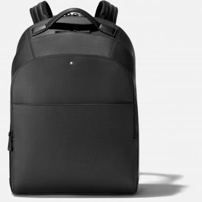 Zaino Montblanc Extreme 2.0 in pelle di vitello con stampa trema fibra di carbonio di colore nero tre scomparti principali con zip ed una tasca anteriore