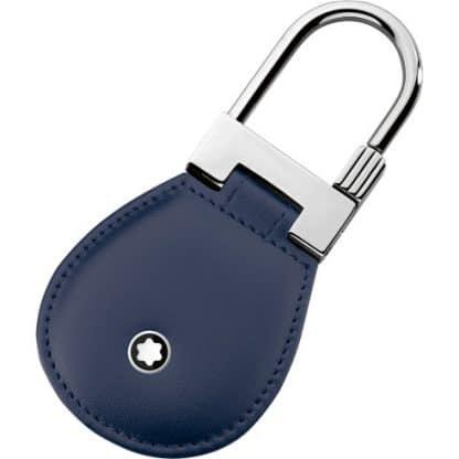 Portachiavi Montblanc Maisterstuck in pelle di colore blu con finiture platino