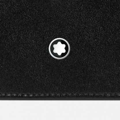 Montblanc Meisterstück Portafoglio da viaggio compatto particolare del logo