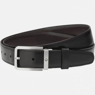 Montblanc Cintura uomo in pelle double face nero marrone