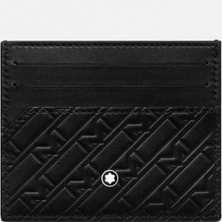 Montblanc M Gram porta carte di credito in pelle di colore nero